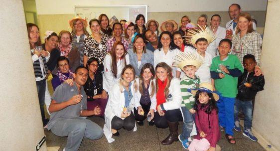 Festa julina da Pediatria do Nardini traz recreação para crianças internadas