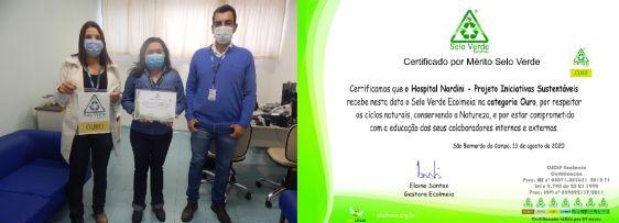 Projetos sustentáveis do Hospital Nardini conquistam Selo Verde Ecolmeia