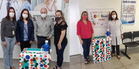 Parceria com AME Mauá garante coleta de 24 quilos de tampinhas plásticas para o Hospital Nardini