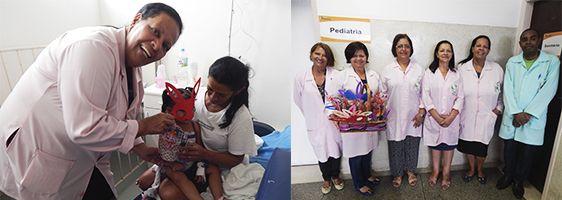 Pacientes da Pediatria e Psiquiatria recebem Ovos de Páscoa