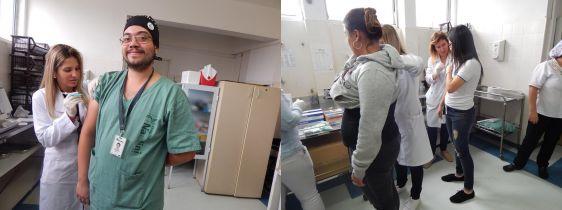 Campanha de vacinação contra Influenza no HCDRN